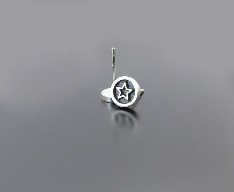 Silver Star Earrings Star studs Fashion earrings super star image 0