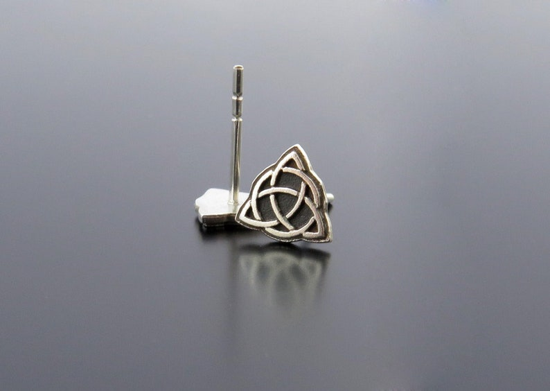 Valknut silver Earrings earring posts fashion triangle image 0