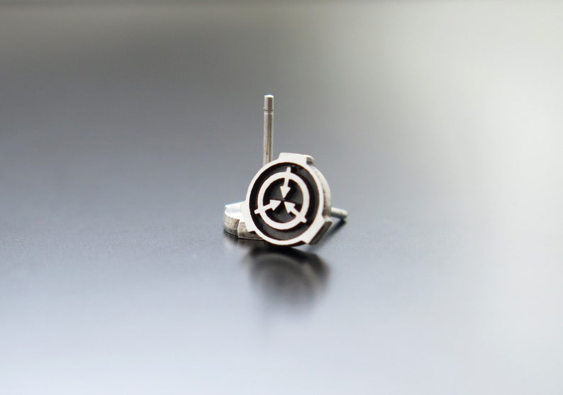 scp foundation earrings scp foundation jewelry scp image 0
