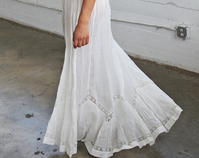 White Edwardian Gauze Skirt