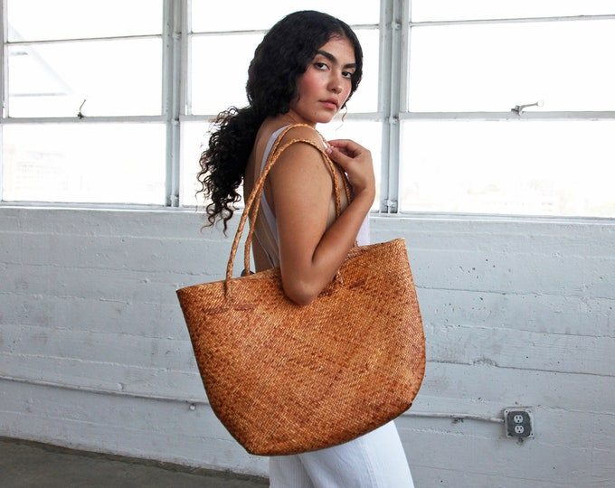 Large Seagrass Tote - terra