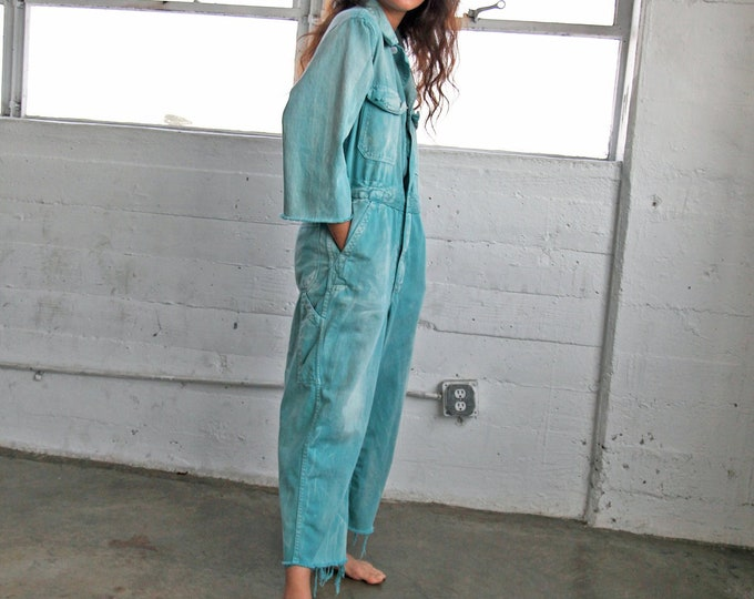 Cotton Coveralls - minty