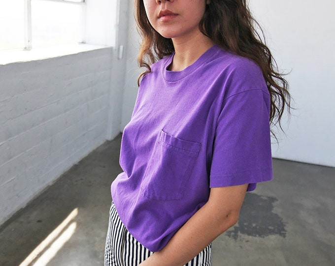 Perfect Pocket Tee - eggplant