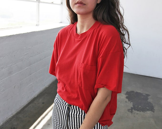 Perfect Pocket Tee - cherry