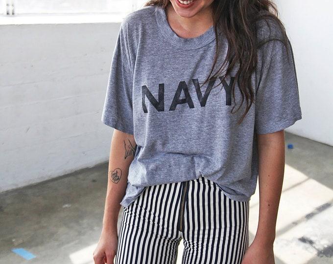 Grey NAVY Crewneck