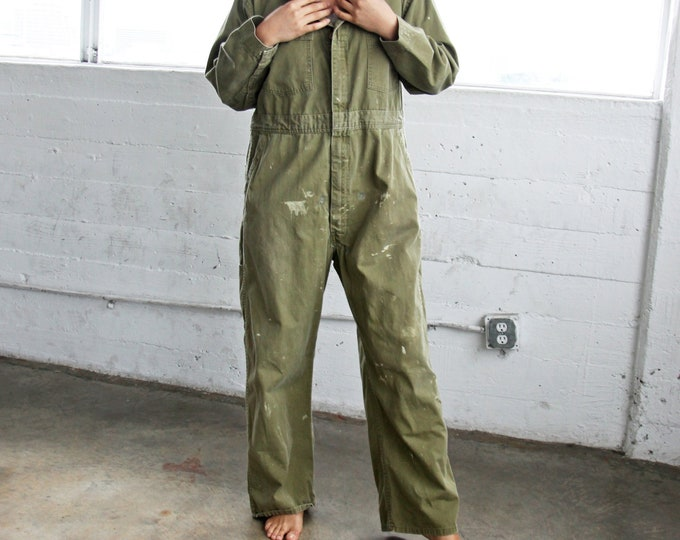 BIG SMITH Olive Utility Coveralls