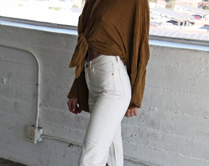 LEVI'S 501 White Jeans - size 24/25