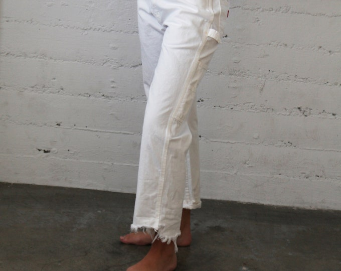White Carpenter's Pants