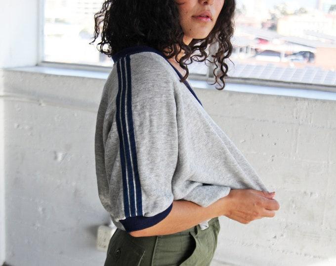 ADIDAS Ringer Short Sleeve Sweatshirt