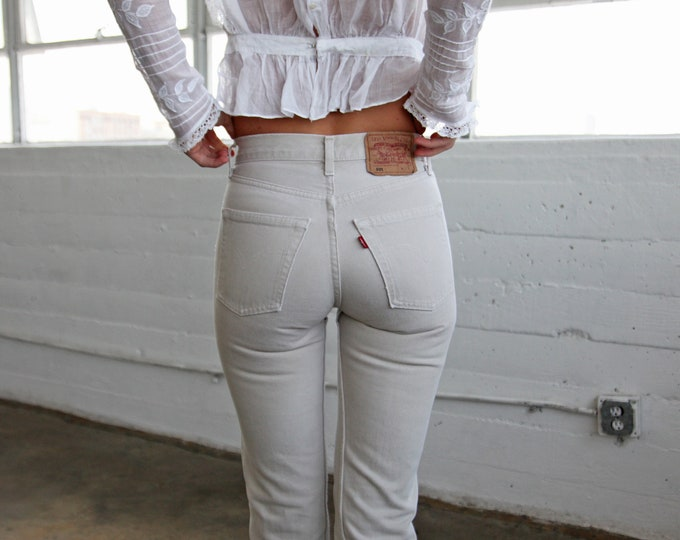 LEVI'S 501 Off-White Jeans