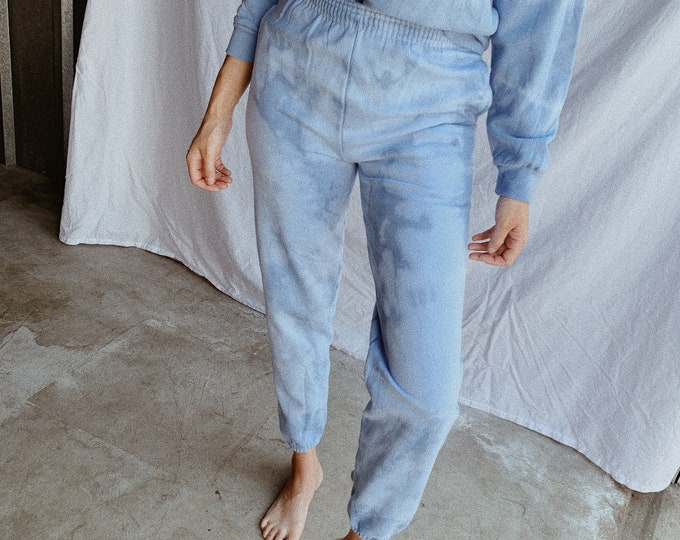 Tie-dye sweatpants - cloud