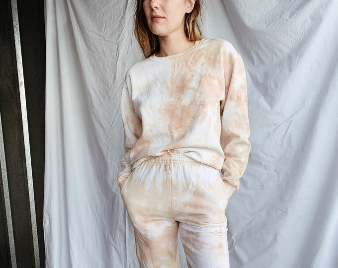Tie-dye sweatshirt - sun-dried peach