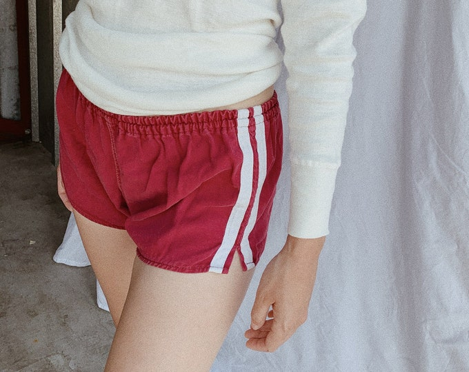 Cotton gym shorts - maroon