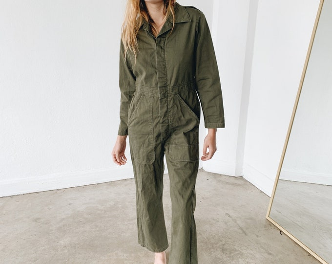 Cotton coveralls - olive