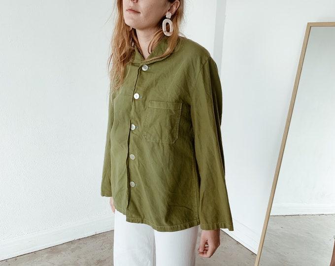 Overdyed chore shirt - pea