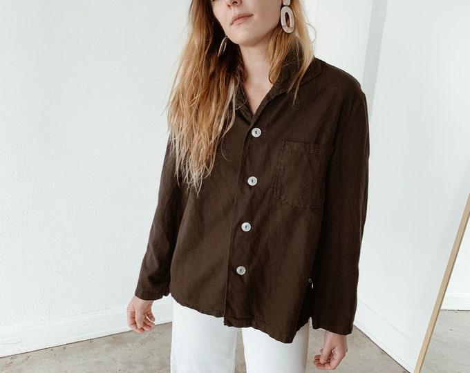 Overdyed chore shirt - charcoal