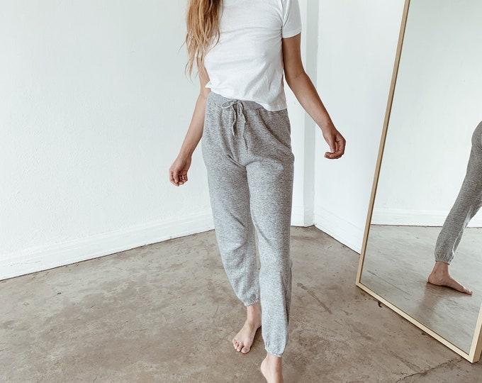 Drawstring sweatpants - grey