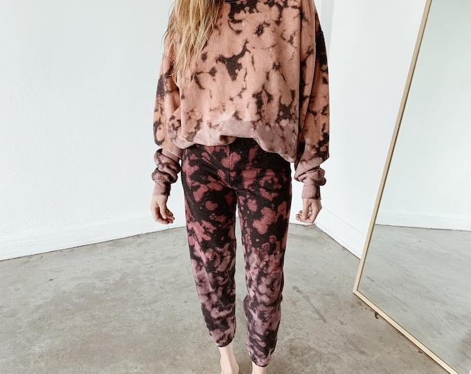 Tie-dye sweatpants - rose