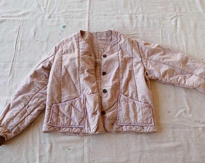 Quilted cotton liner coat - lilac