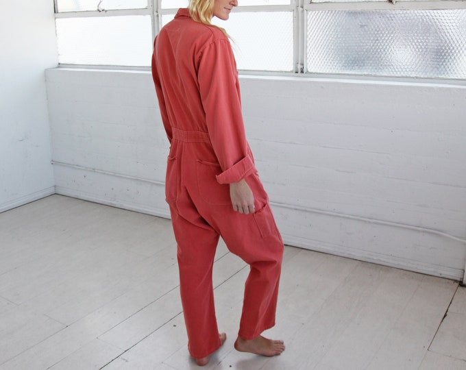 1970s Overdyed Coveralls - rose