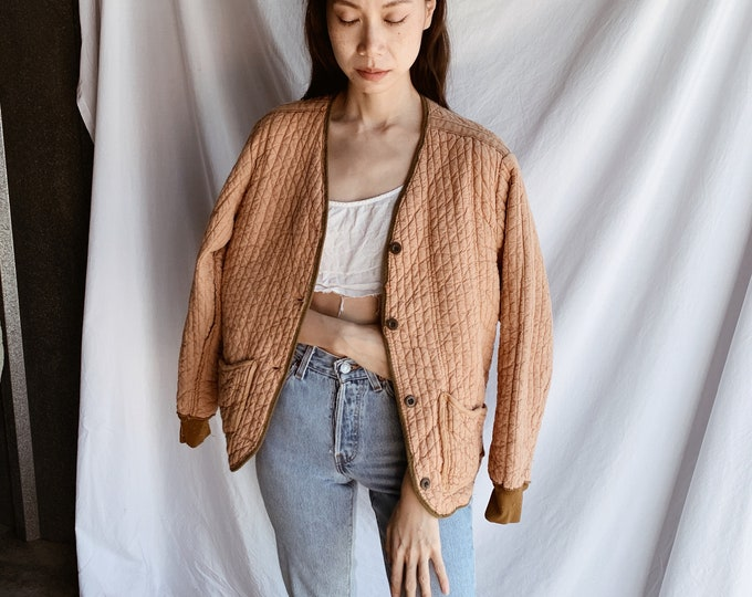 Quilted cotton liner coat - rose
