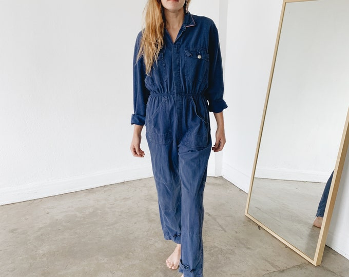 Cotton coveralls - cobalt