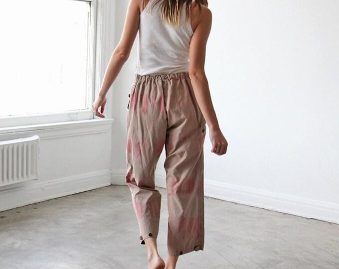 Canvas painter's pants - rose