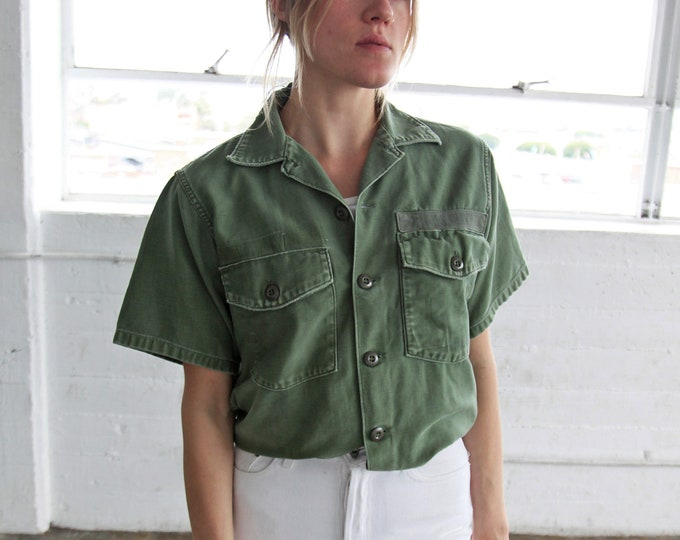 SALE 40% OFF Olive Fatigue Shirt