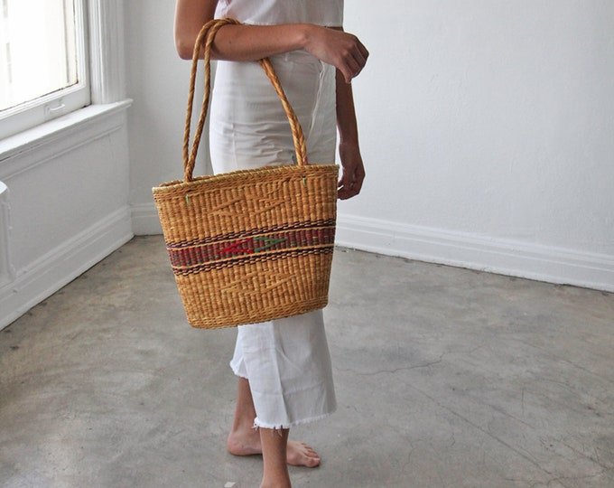 Straw basket bag