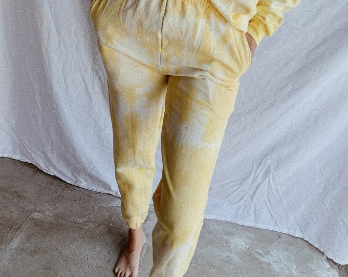 Tie-dye sweatpants - turmeric