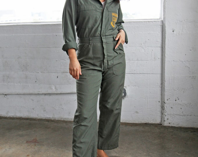 Olive Utility Coveralls