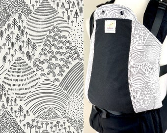 Baby Carrier Suck/Drool Pads - Mountain View (for Kinderpack, Tula, Lillebaby, Ergo & more) - Choose Straight or Curved (Made to Order)