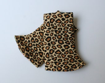 Baby Carrier Suck/Drool Pads - Leopard Spots (for Happy Baby, Tula, Lillebaby, Ergo & more) - Choose Straight or Curved (Made to Order)