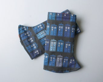 Baby Carrier Suck/Drool Pads - Police Box (for Kinderpack, Tula, Lillebaby, Happy Baby & more) - Choose Straight or Curved (Made to Order)
