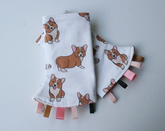 Baby Carrier Suck/Drool Pads - Corgis (for Happy Baby, Tula, Lillebaby, Happy Baby, Ergo & more) - Choose Straight or Curved (Made to Order)