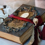 Gothic Wedding Guest Book , Halloween Wedding Guest Book, Book of Shadows, Fairytale wedding guest book, Altered guest book, Junk Journal