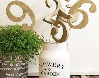 Wedding table number - Rustic - Wooden table numbers