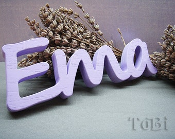 Wood letters, children's room decor