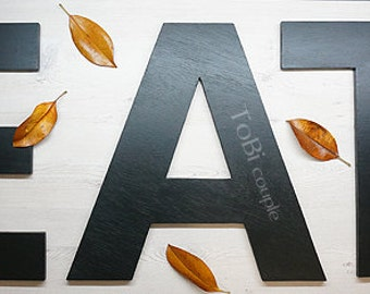 Eat sign Kitchen wall decoration Wooden Letters - Home decor - Wall decor - Shelf decor