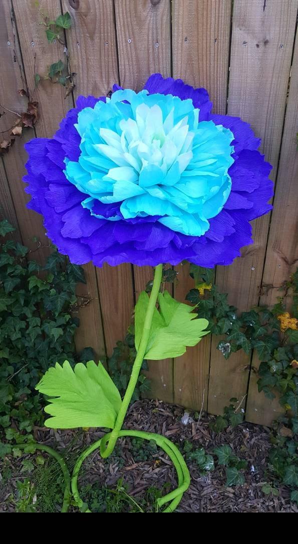 Custom Order Self Standing Giant Crepe Paper Flower Large Peony