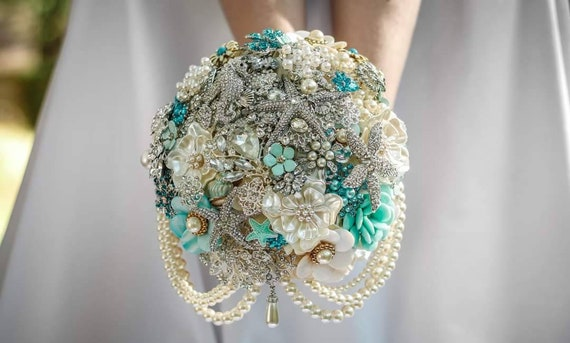 RESERVED for Christian BALANCE Payment 10 Inch Bridal Bouquet Beach Wedding Bouqet
