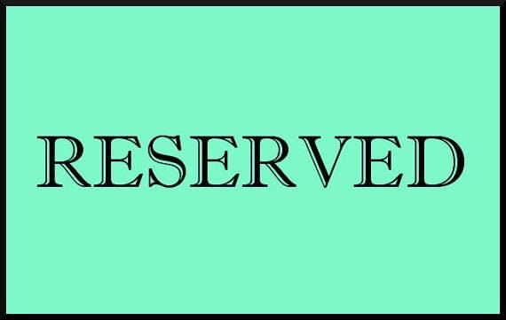 RESERVED for Christian Deposit Payment
