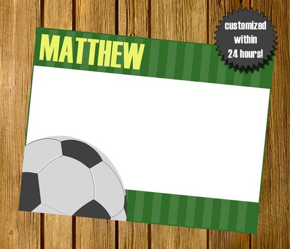 Para Imprimir Papelería Personal De Fútbol Fútbol Papelería Personal Papelería Nota Tarjeta De Invitación De Fútbol Para Imprimir Jpeg 5 5x4 25