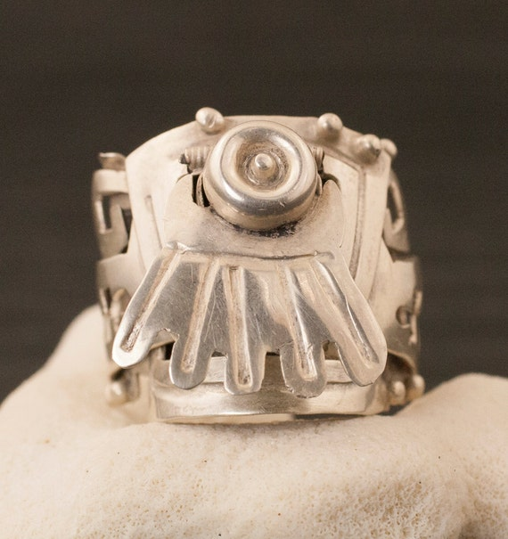 RESERVED Vintage Mexican Sterling Silver Poison Ri