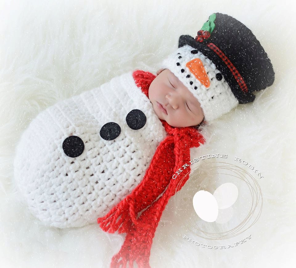 Snowman Swaddle Sack Snowman Cocoon Newborn Christmas Baby Etsy
