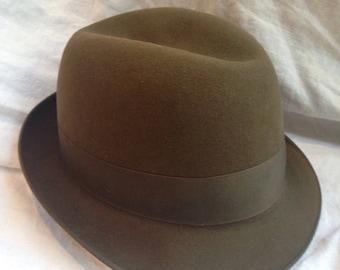 e6be8c98f8592 Vintage Royal Stetson Olive Brown Fedora Hat
