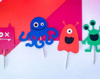 Little Monster Cupcake Toppers