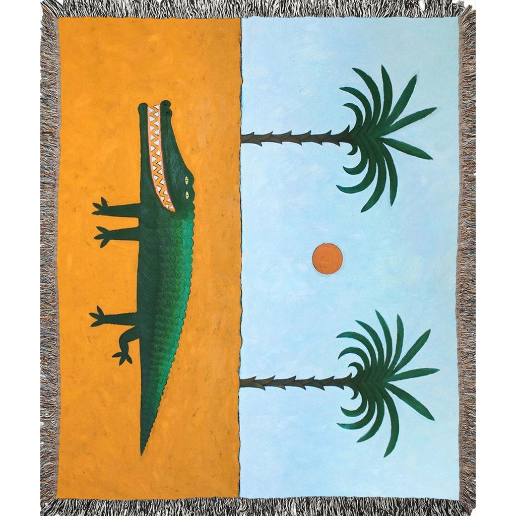 Werfen Decke 100 % Baumwolle gewebt werfen Decke Krokodil