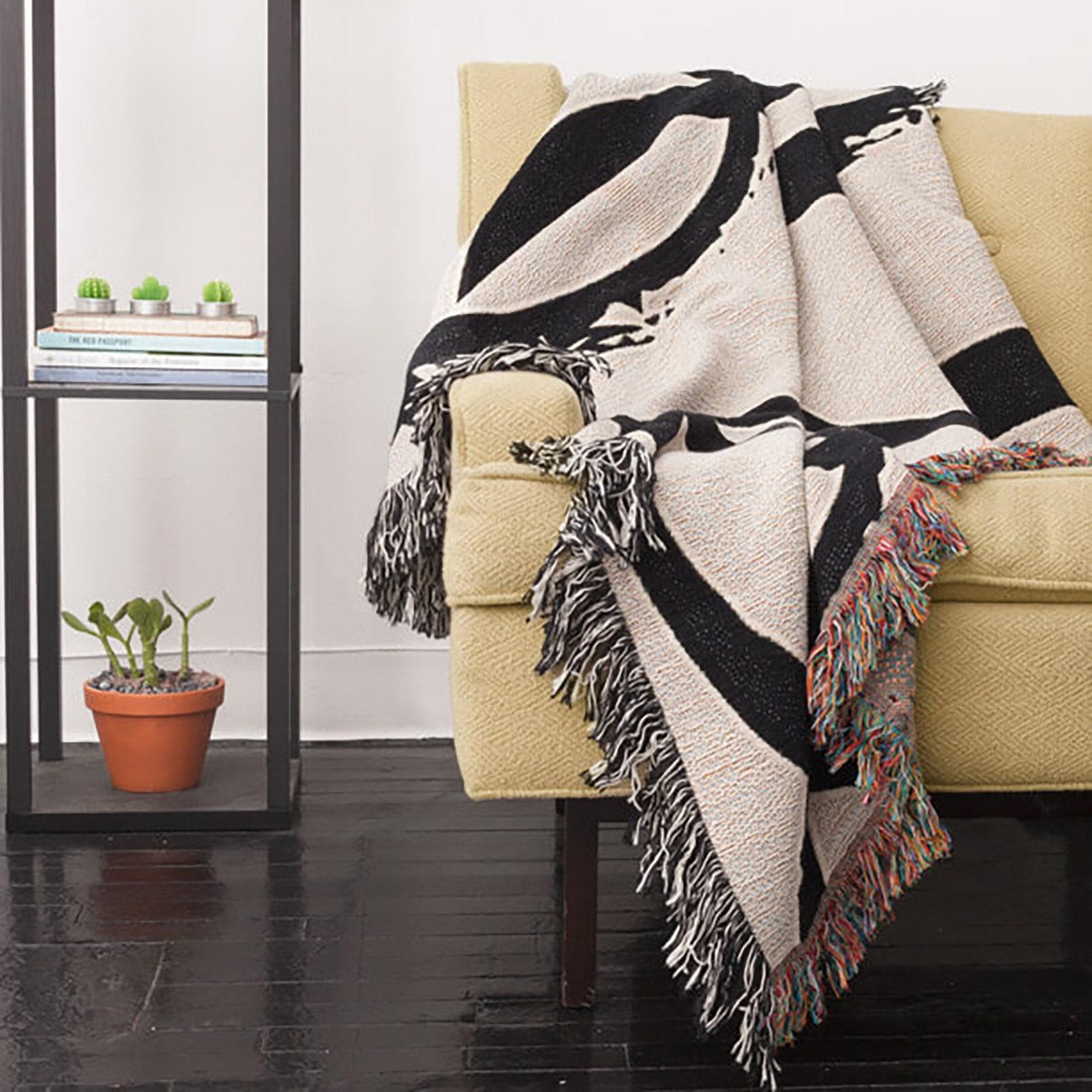 Gewebte Decke Pferde Decke schwarz und weiß werfen Decke