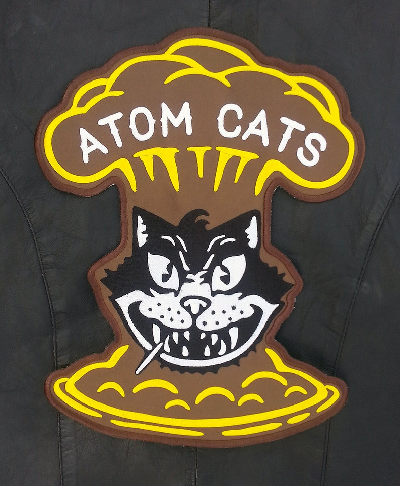 42753a7a837 Atom Cats Patch Large Embroidered Fallout